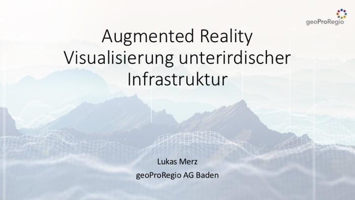 GeoProRegio - Augmented Reality: Visualisierung unterirdischer Infrastruktur.