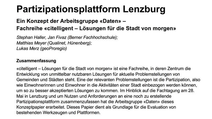 Haller, Meyer, Merz - Partizipationsplattform für Lenzburg.